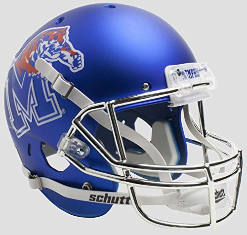 Tigers Helmet Ornament - Schutt NCAA Memphis Tigers Replica XP Football Helmet, Satin Blue Tiger Alt. 5