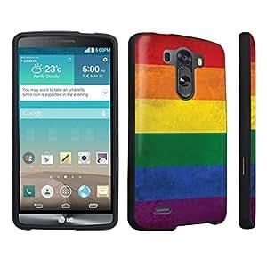 DuroCase ? LG G3 Hard Case Black - (Rainbow Flag)