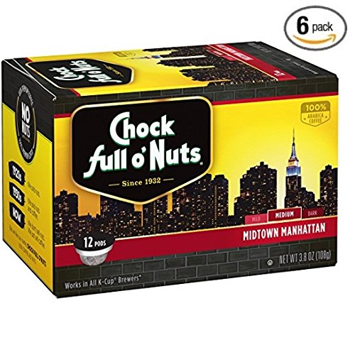Chock Full oNuts Midtown Manhattan Single-Serve Cups, 72 Count