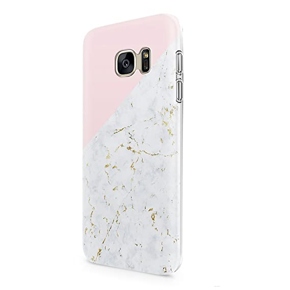 timeless design fa2c1 b542a Samsung Galaxy S7 Case uCOLOR Gold Marble Pink Geometric Triangle  Dual-Layer Hard Back+Flexible TPU Protective Cover for Samsung Galaxy S7