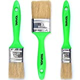"""House Paint Brushes (3 PIECE SET) 3 Flat Brush Pack That Includes 1"""", 1.5"""", and 2"""" Sizes - Designed for Acrylic and Latex Paints - Indoor or Outdoor Use - Perfect for Painting Touch Ups & DIY Projects"""