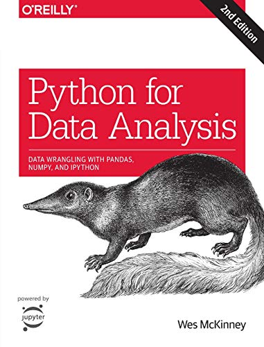 Book cover of Python for Data Analysis: Data Wrangling with Pandas, NumPy, and IPython by Wes McKinney