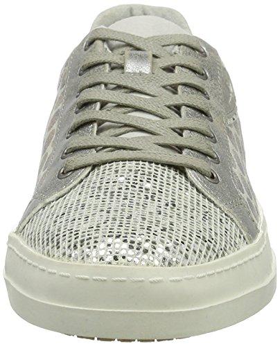 23666 Dots 36 Silber EU WHT Sneakers Basses Tamaris Femme 114 Silv dS60n