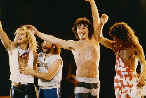 471b5e2674d Image Unavailable. Image not available for. Color  Van Halen Eddie Bare  Chested David Lee Roth On Stage Concert 24x36 Poster