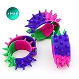 Extpro Spiky Slap Bracelets Bands Silicone Spike Wristbands Fidget Toy for Kids Adults(3 Pack)