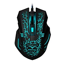 HAVIT HV-MS672 Ergonomic Wired Mouse, 2400 DPI, 7 Soothing LED Colors, 6 Buttons [Updated Version]