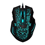 51AGsmElmpL. SL160  - AMIR Gaming Mouse, USB Wired Optical Gaming Mice with 9200 DPI High Precision, 6 Adjustable DPI 1000-9200 + 8 Adjustable Weights + 6 Changing LED + 8 Buttons for Laptop/ PC/ MacBook/ Computer