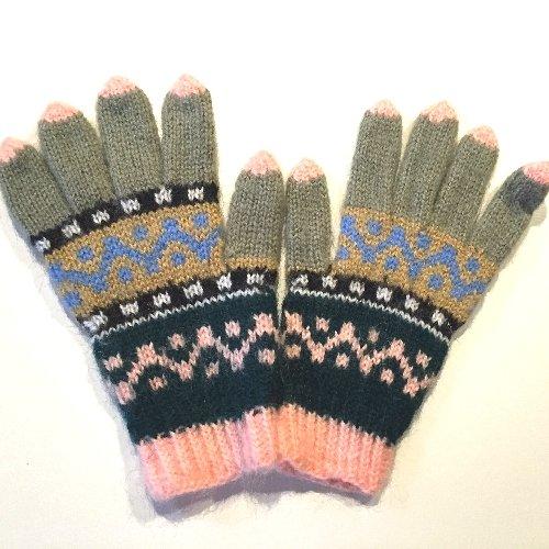 滅多気候ヶ月目手編み手袋24 M