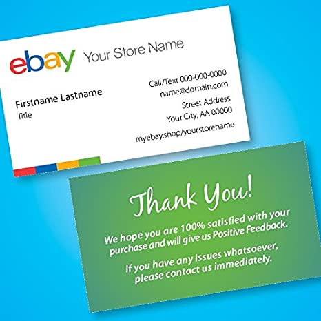 Amazon ebay seller business cards free custom url to your ebay seller business cards free custom url to your ebay store 500 colourmoves