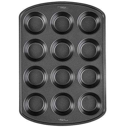 - Wilton 2105-6789 Perfect Results Premium Non-Stick Bakeware Muffin and Cupcake Pan, 12-Cup, STANDARD, Silver