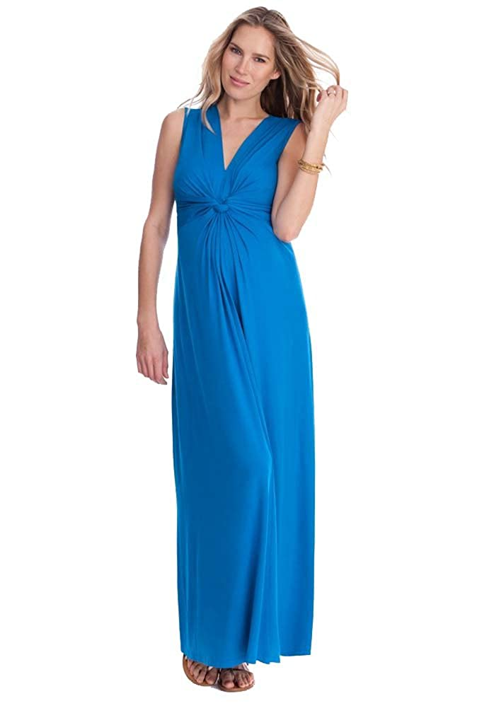 Seraphine Jo Knot Front Maternity And Nursing Maxi Dress DM03918