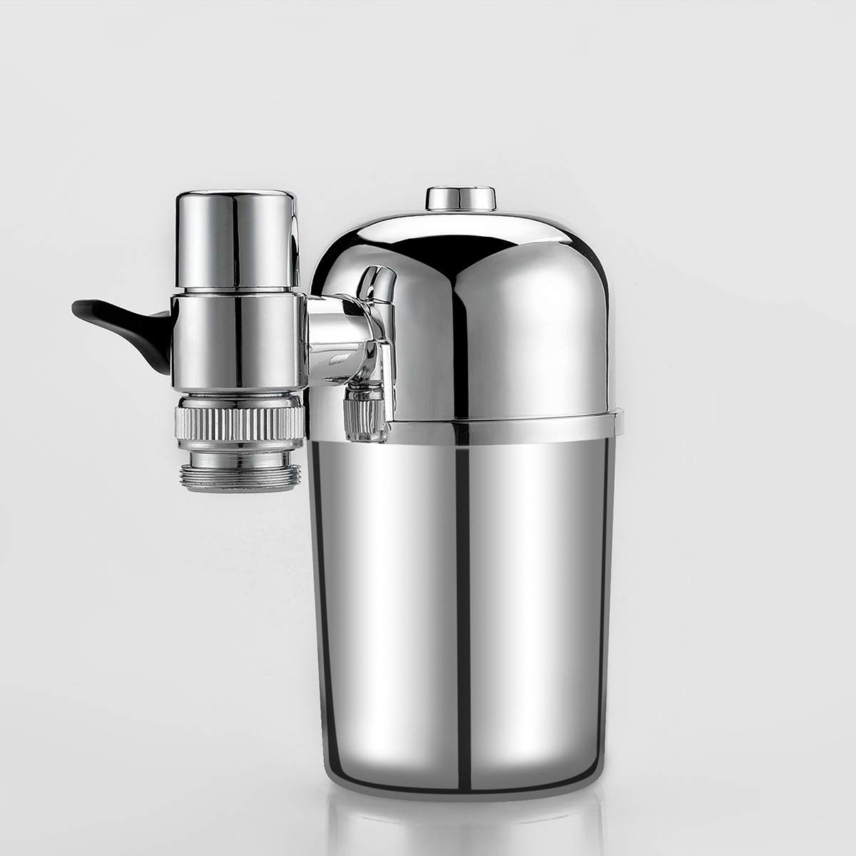 Advanced Faucet Water Filter, Ceramic, Suitable for Standard Faucet, Easy to Install, no Tools Required, Electroplate Household Water Purifier Kitchen Purifier Faucet Filter Household