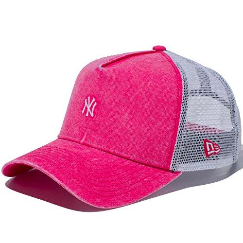 (ニューエラ) NEW ERA メッシュキャップ 9FORTY Aフレーム イタリアンウォッシュ MLB ニューヨークヤンキース ブライトローズ/ホワイト FREE (サイズ調整可能)