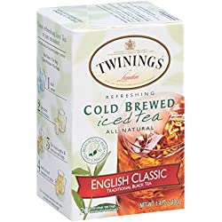 Twinings Cold Brew Tea, English Classic, 20 Count Bagged Tea (6 Pack)