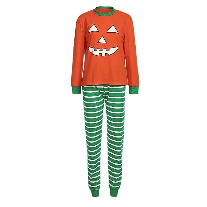 Bestow Camiseta de Mujer Blusas Blusa Pantalones Familia Pijamas Ropa de Noche Halloween Conjunto de Calabazas para Padres y niños: Amazon.es: Ropa y ...