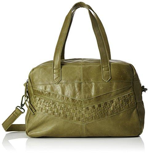 PIECES Pcjimini Leather Bag, Borsette da polso Donna Verde (Khaki Green)