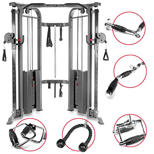 XMark Functional Trainer Cable Machine with Dual 200 lb Weight Stacks, 19 Adjustments, and an Upgraded Accessory Package (Gray) Review