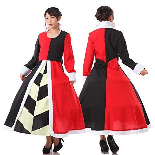 monoii ハートの女王 コスプレ ドレス 衣装 仮装 アリス 女王 コスチューム コス c505