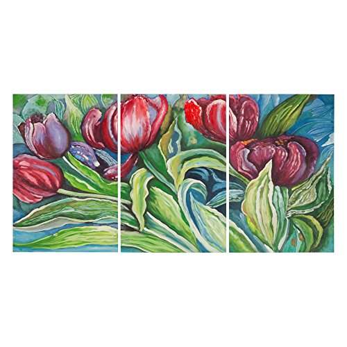 Safavieh  Art Collection Nouveau tulips Triptych Wall Art