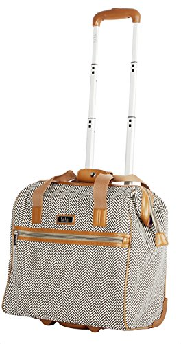 Signature Tote Traveler (Nicole Miller New York Montana Collection Wheeled Cabin Tote (Khaki))