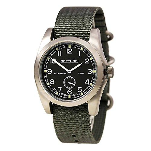 Bertucci A-3T Vintage 42 Watch Black/Ti-Def Drab Band 13300