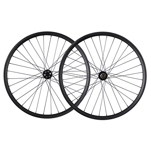 ICAN 29er All Mountain Bike Carbon Wheelset Clincher Tubeless Ready Rim Boost Front 100x15mm Rear 142x12mm Thru - Axles 12 Wheelsets
