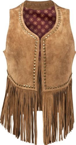 Durango Clothing Co. DLC0003 Women's Spring Bear Fringe Vest Tan, ME