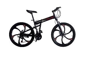 Helliot Bikes HUMMER01 Bicicleta Mountain Bike-Plegable, Unisex Adulto, Negro, Estándar
