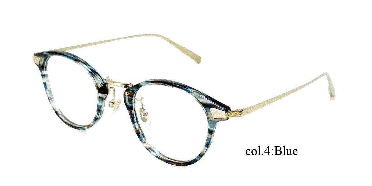 越前國 甚六作 EZ-005 RICESTONE ライスストーン 日本製 鯖江 職人の眼鏡 メガネ フレーム 度付き対応 B07D9FW8M4 (度入り)薄型1.60球面レンズ付き(レンズカラーあり)|04 4 (度入り)薄型1.60球面レンズ付き(レンズカラーあり)