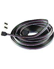 Liwinting 5 Pin 10m RGBW Cable de Extensión con Hilos de Cobre Puro Estañados Dentro para SMD 5050 RGBW LED Strip Cable del Conectador de la Tira del RGBW LED, con 5 Piezas de Conector de 5 Pin