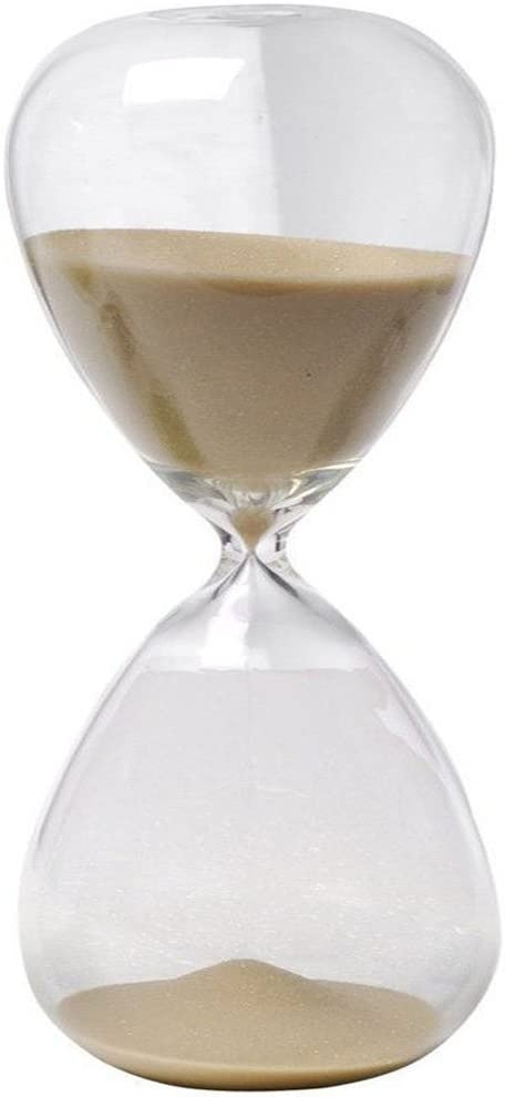 Large Fashion Colorful Sand Glass Sandglass Hourglass Timer Clear Smooth Glass Measures Home Desk Decor Xmas Birthday Gift (Brown, 5 Minutes)