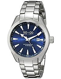 SO & CO New York Men's 5039B.2 Madison Analog Display Japanese Quartz Silver Watch
