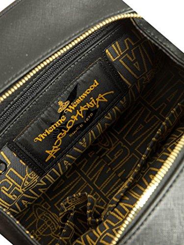 Vivienne Westwood Borsa A Mano Donna 7063VSLBLACK Pelle Nero