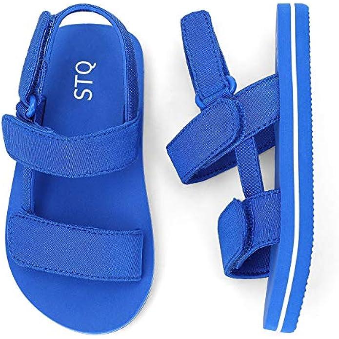 STQ Toddler Sandals Boys Girls Soft Open Toe Outdoor Beach Summer Flats Sandals
