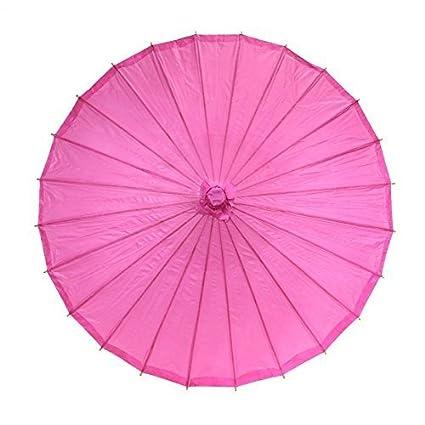S-LOVE Luna Bazaar - Sombrilla de bambú de estilo chino, hot pink, talla única: Amazon.es: Deportes y aire libre