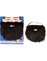 Capital Costumes BLACKBEARD Fake Beard with Elastic Costume Accessory by (Black)