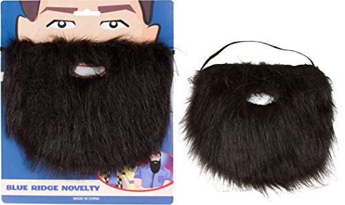 Trademark Innovations Costume and Character Beard with Elastic By Capital Costumes (Black)