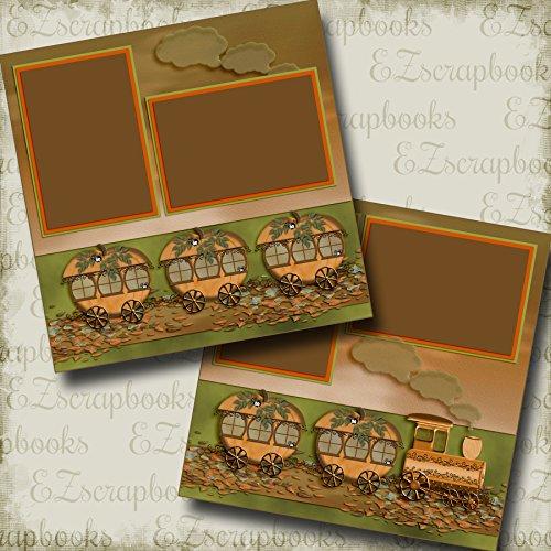 Boo Choo Choo Halloween Train - Premade Scrapbook Pages - EZ Layout 2853 -