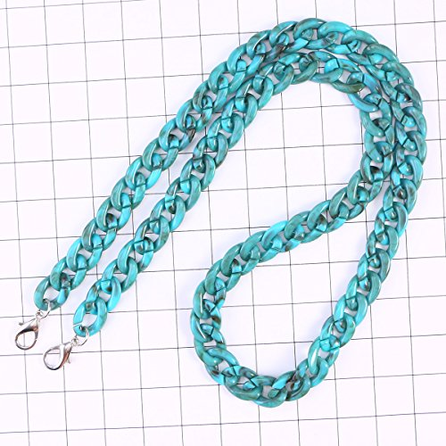 with Chain Plastic Women Bag Handbag 120cm Buckles Strap Resin LUOEM Strap Ladies Bag Replaement Turquoise 87qPPRg