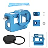SHOOT Protective Case Aluminium Alloy Metal Housing Frame Shell for GoPro HERO 5/6 with 52mm UV Filter, Rear Cover, Hot Shoe (Blue)