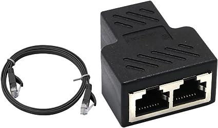 Sharplace Rj45 Y Splitter Adapter 1x Rj45 Stecker Auf Elektronik