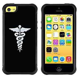 Suave TPU GEL Carcasa Funda Silicona Blando Estuche Caso de protección (para) Apple Iphone 5C / CECELL Phone case / / Doctor Hospital Medical Symbol /