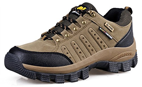 2 Ring Creeper Sneaker (RAINSTAR Unisex Trekking Hiking Sport Shoe Men Women Outdoor Walking Sneaker Khaki 6)