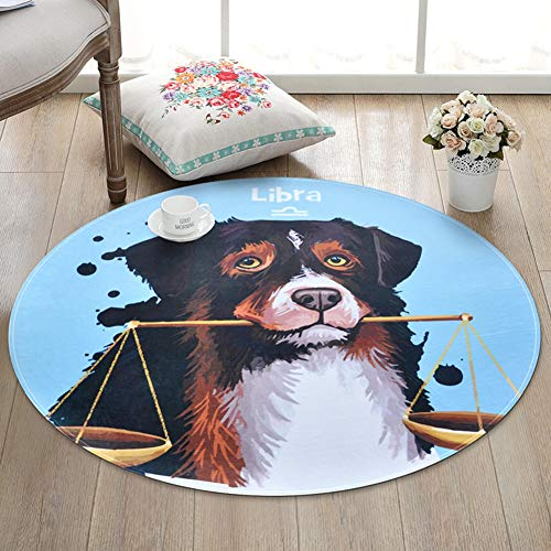KKONION Cute Cartoon Round Rug Chair Mats Kids Room Living Room Big Area Rugs Bedroom Decor Bathroom Bath Mat Home Carpets - Anti Static Diamond Chair Mats