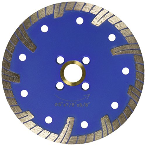 Samurai 5TBBlue0050 5-Inch Continuous Rim Diamond Saw Blade for Cutting Granite