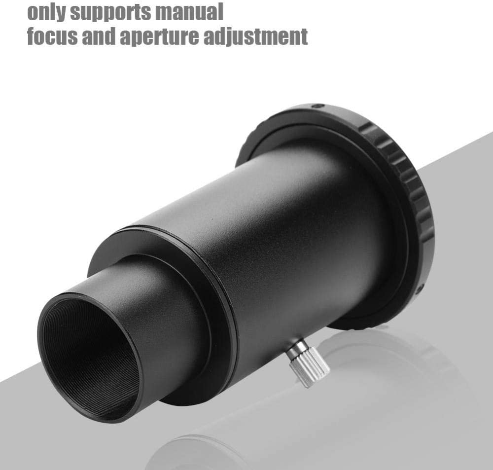Bindpo Extenable Camera Adapter,1.25inch Telescope Extension Tube,M42 Thread T-Mount Adapter,T2 Ring Lens Adapter,for Nikon F Mount Camera,Only Support Manual Focus