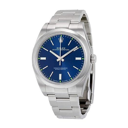 Amazon.com: Rolex Ostra Perpetual Azul Dial Acero inoxidable ...