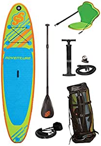 Sportstuff 1030 Adventure Stand Up Paddleboard With Accessories