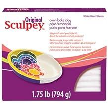 Sculpey S2 Original Oven Bake Clay-White, 1.75 Pound