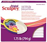 Arts & Crafts : Polyform Sculpey Original Polymer Clay, 1.75-Pound, White